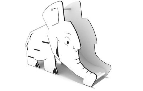 Alacsony csúszda elefánt formával