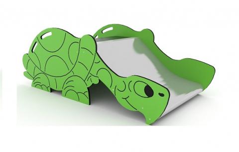 Alacsony csúszda teknősbékaformával