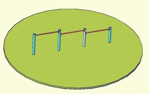 3 részes alacsony húzódzkodó