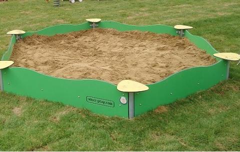 Hatszögű homokozó keret