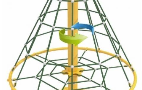Climbing net carousel 1020