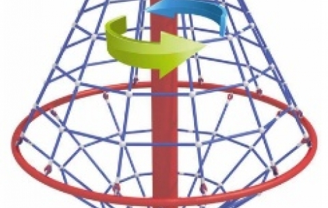 Climbing net carousel 1022