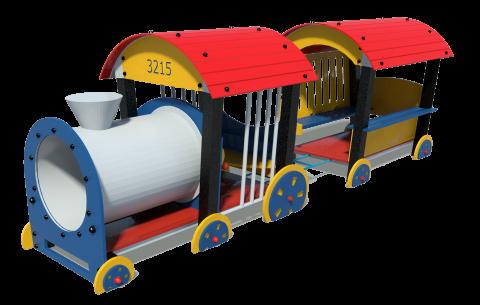 AP Locomotive+passenger car